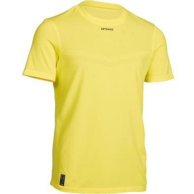 Žluté chlapecké tenisové tričko Artengo