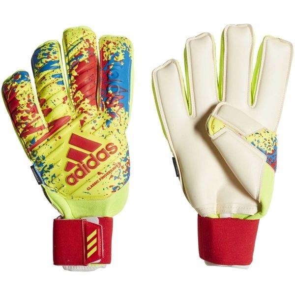Žluté pánské brankářské fotbalové rukavice Adidas