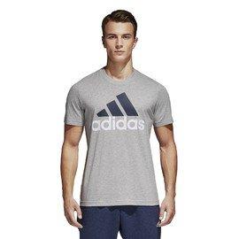 Šedé pánské tričko s krátkým rukávem Adidas - velikost M
