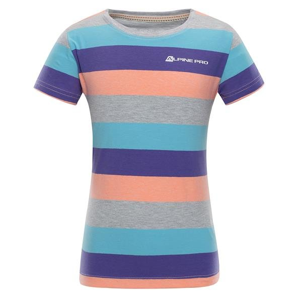 Modré dětské tričko s krátkým rukávem Alpine Pro - velikost 116-122