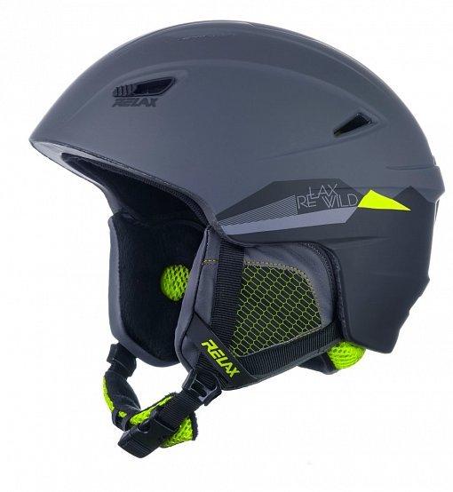 Šedá lyžařská helma Relax