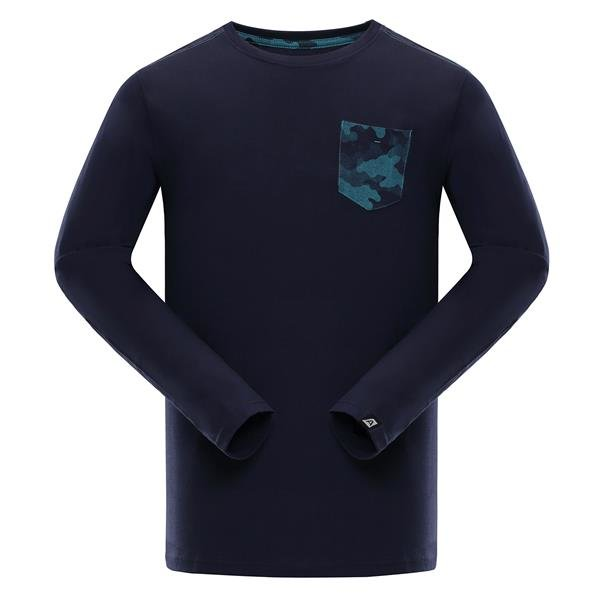 Modré pánské tričko s dlouhým rukávem Alpine Pro - velikost XL