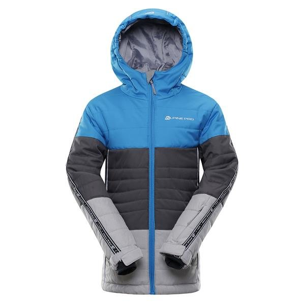 Modro-šedá chlapecká lyžařská bunda Alpine Pro - velikost 116-122