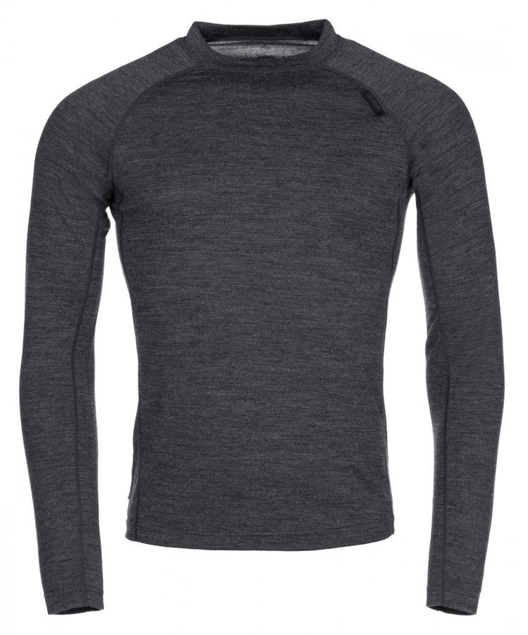 Šedé pánské funkční tričko s dlouhým rukávem Kilpi - velikost XXL