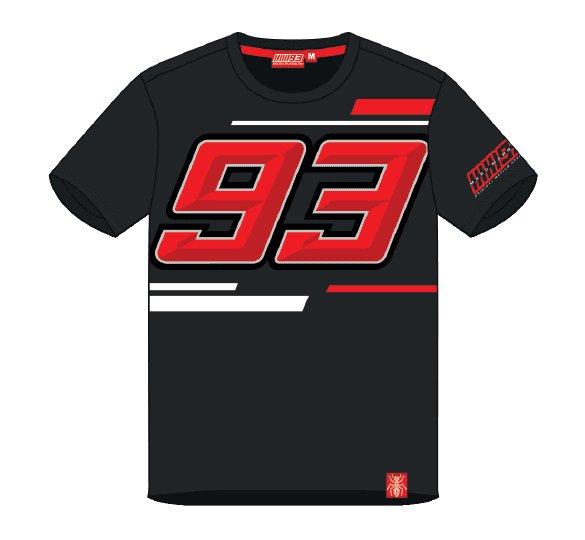 Černé pánské motorkářské tričko s krátkým rukávem Marquez