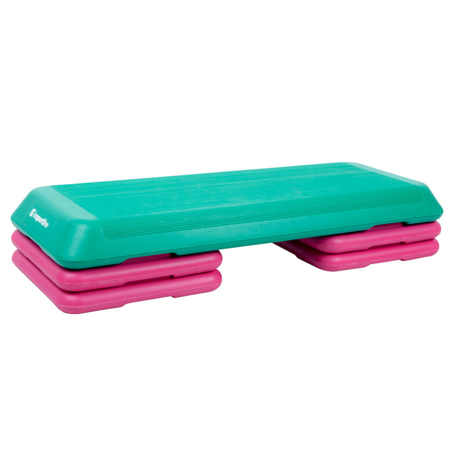 Růžovo-zelený aerobic step inSPORTline