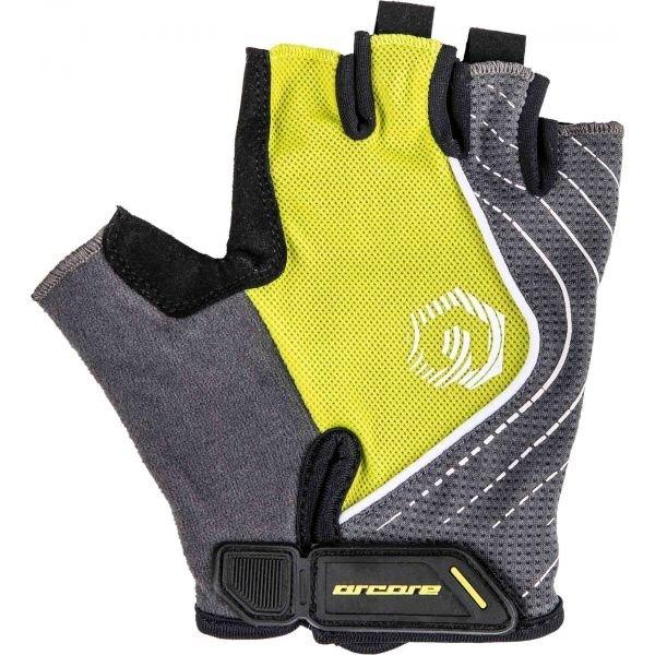 Šedo-žluté cyklistické rukavice Arcore