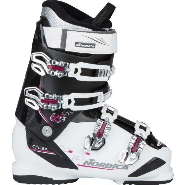 Bílo-černé dámské lyžařské boty Nordica - velikost vnitřní stélky 24 cm