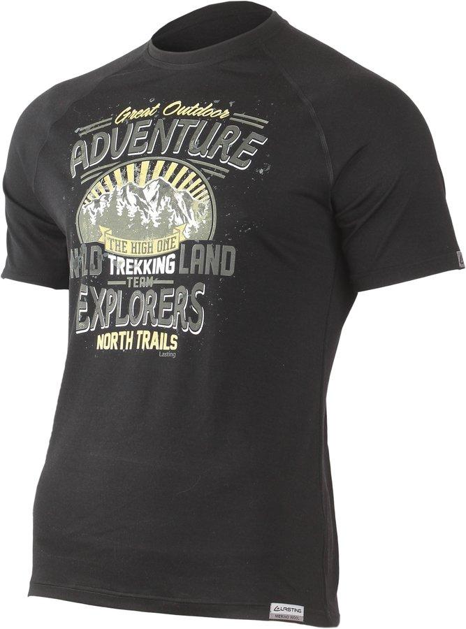 Černé pánské tričko s krátkým rukávem Lasting