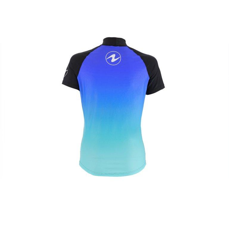 Modré dámské lycrové triko s krátkým rukávem Frozen blue, Aqualung