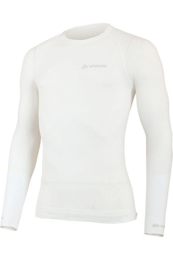 Bílé pánské funkční tričko s dlouhým rukávem Lasting - velikost L-XL