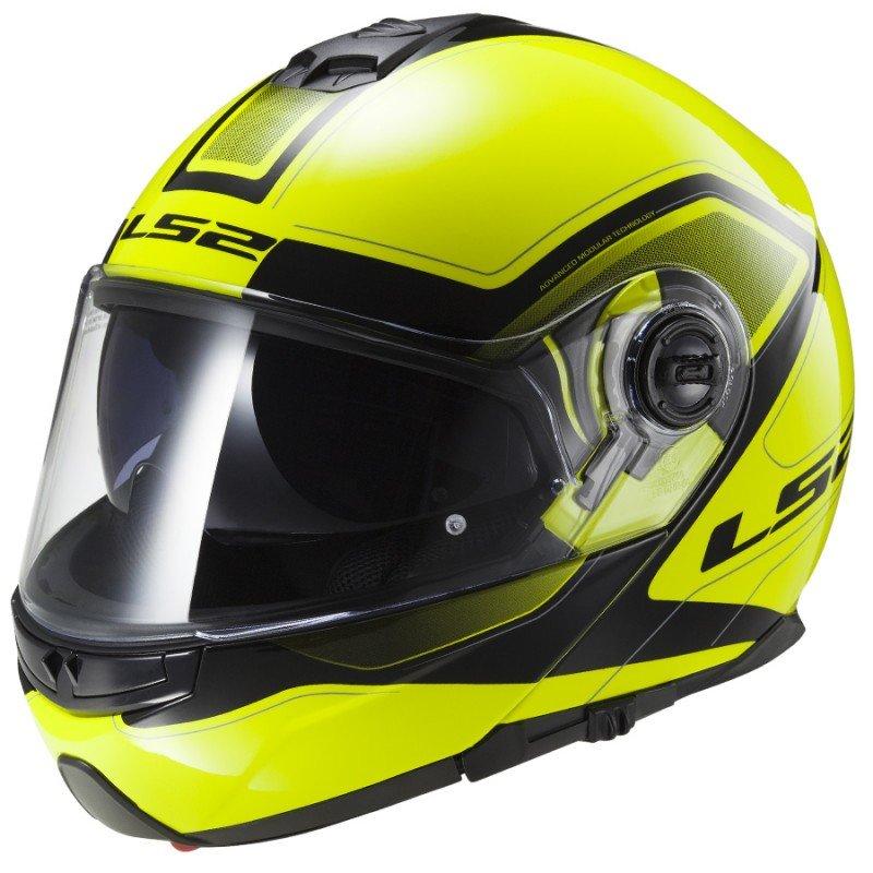 Černo-žlutá unisex helma na motorku FF325 Strobe, LS2