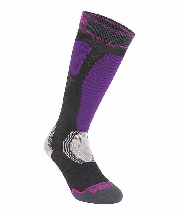 Černo-fialové dámské lyžařské ponožky Bridgedale