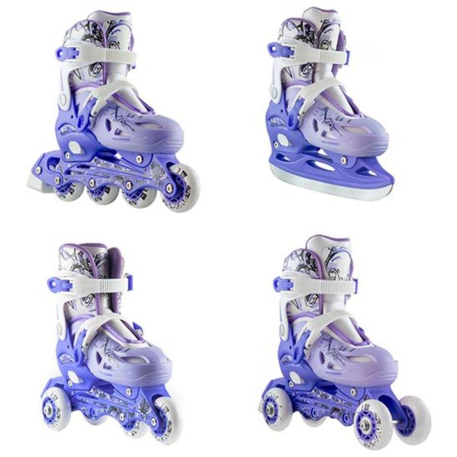 Bílé, modré nebo fialové dětské rekreační chlapecké nebo dívčí kolečkové brusle Nils Extreme