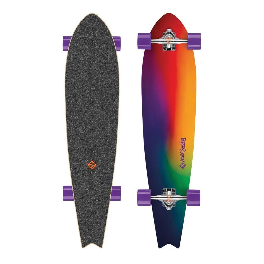 """Longboard - Longboard Street Surfing Fishtail - Sunset Blur 42"""""""