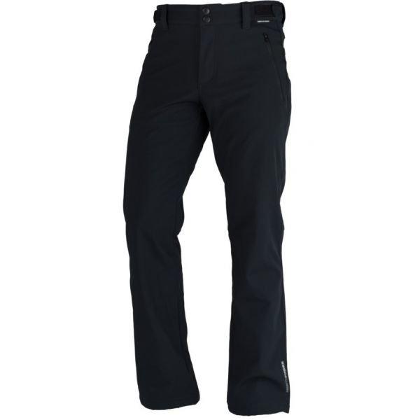 Černé softshellové pánské kalhoty NorthFinder - velikost M