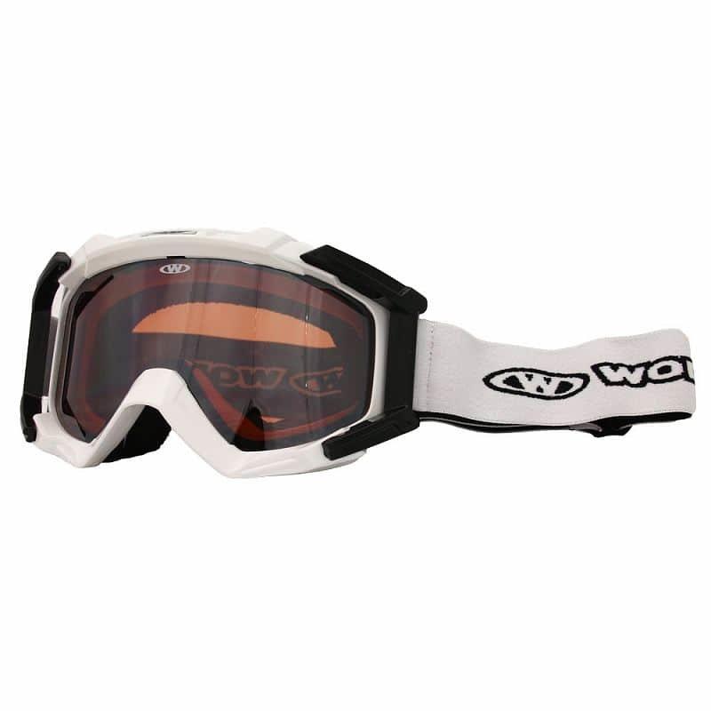 Bílé lyžařské brýle Worker