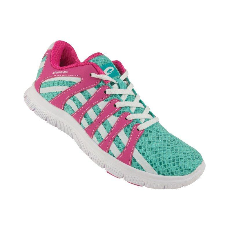 Bílo-růžové pánské nebo dámské běžecké boty Spokey - velikost 39 EU