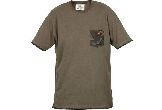 Khaki pánské rybářské tričko Fox International - velikost XL