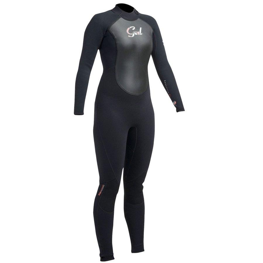 Černý dlouhý dámský neoprenový oblek Response RE1319, GUL - velikost 46
