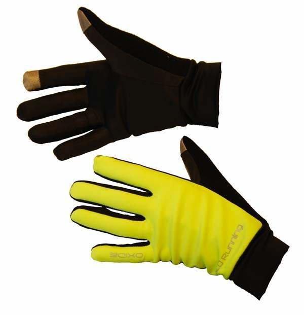 Černo-žluté polyesterové zimní pánské nebo dámské běžecké rukavice 2117 of Sweden