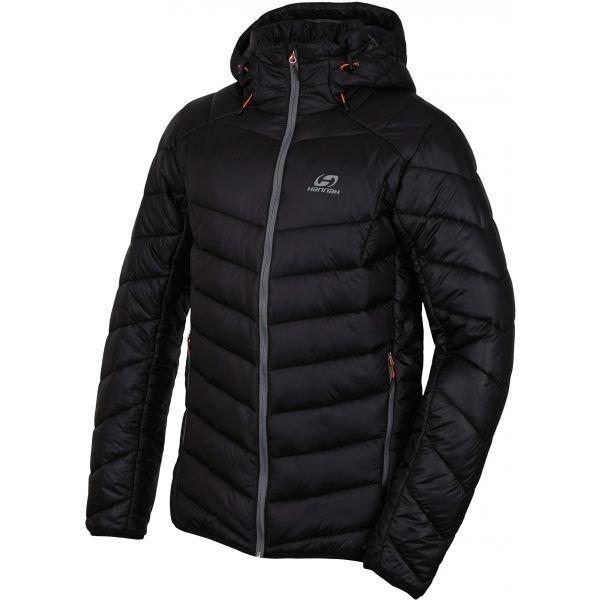 Černá zimní pánská bunda s kapucí Hannah