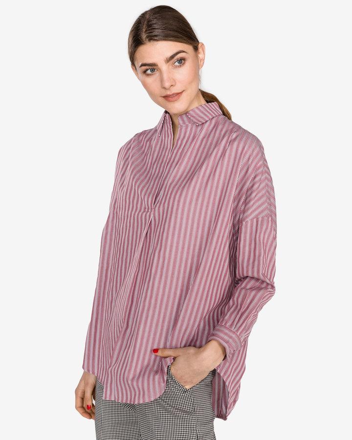 Červená dámská košile s dlouhým rukávem French Connection