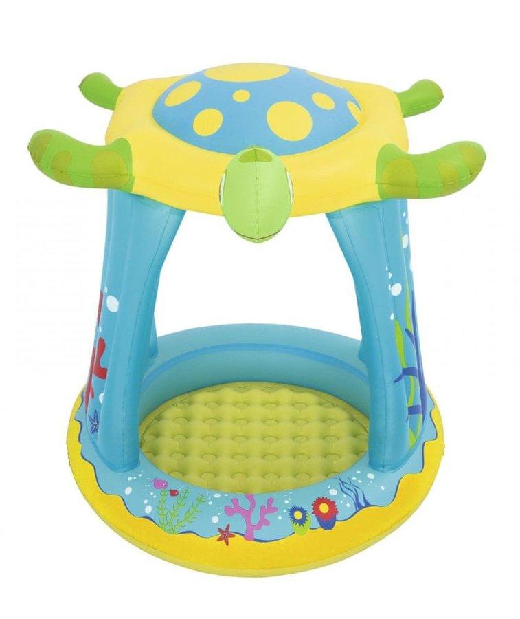 Dětský nadzemní oválný bazén Bestway - délka 109 cm, šířka 104 cm a výška 96 cm
