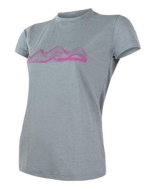 Šedé dámské tričko s krátkým rukávem Sensor - velikost XL