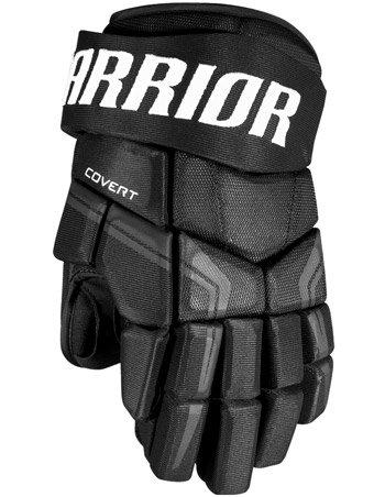 Černé dětské hokejové rukavice Covert QRE4, Warrior