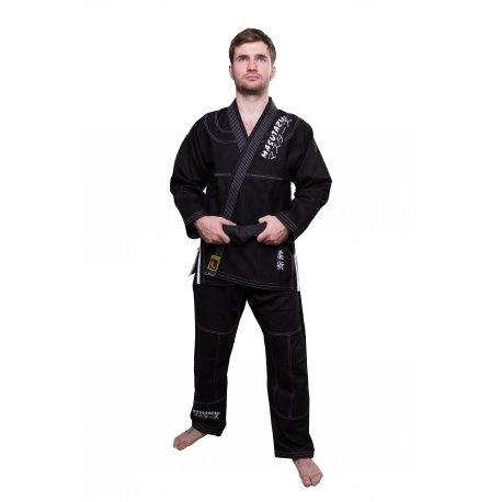Černé kimono na jiu-jitsu MASUTAZU