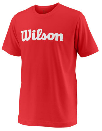 Červené dětské tričko s krátkým rukávem Wilson