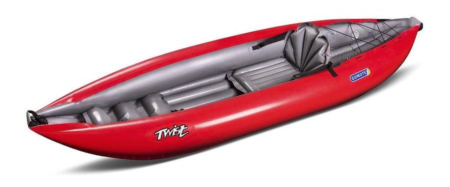 Červený nafukovací kajak pro 1 osobu Twist, Gumotex