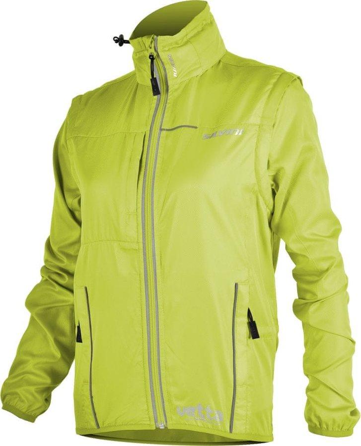 Zelená dámská cyklistická bunda Silvini - velikost XS
