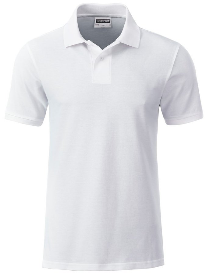 Bílá pánská polokošile s krátkým rukávem James & Nicholson - velikost 3XL
