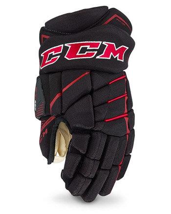 Bílo-černé hokejové rukavice - junior Jetspeed FT390, CCM