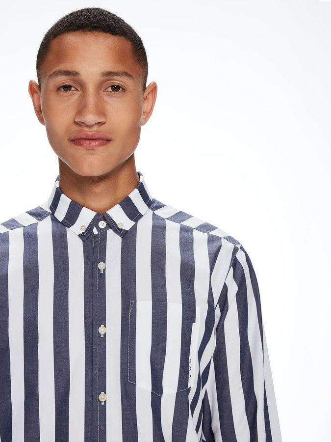 Bílo-modrá pánská košile s dlouhým rukávem Scotch & Soda - velikost M