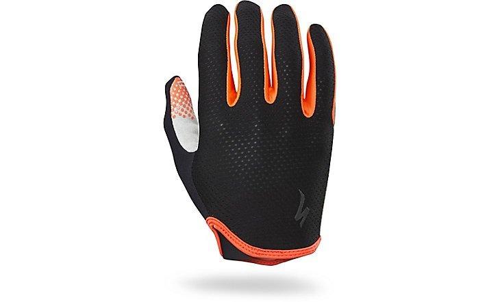 Černo-červené letní pánské cyklistické rukavice Specialized - velikost L