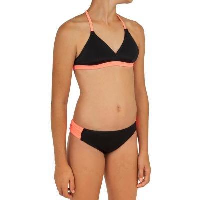 Černé dvoudílné dívčí plavky Olaian - velikost 128