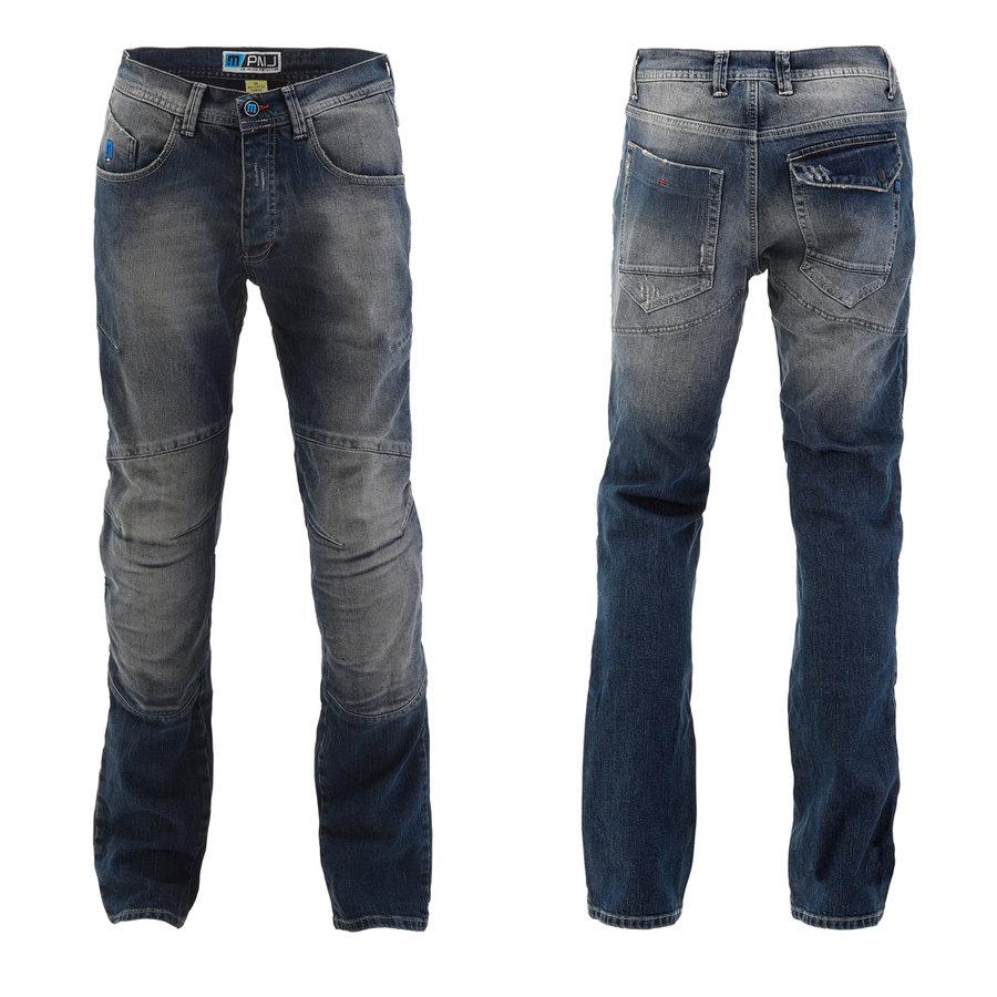 Modré pánské motorkářské kalhoty Vegas, PMJ Promo Jeans