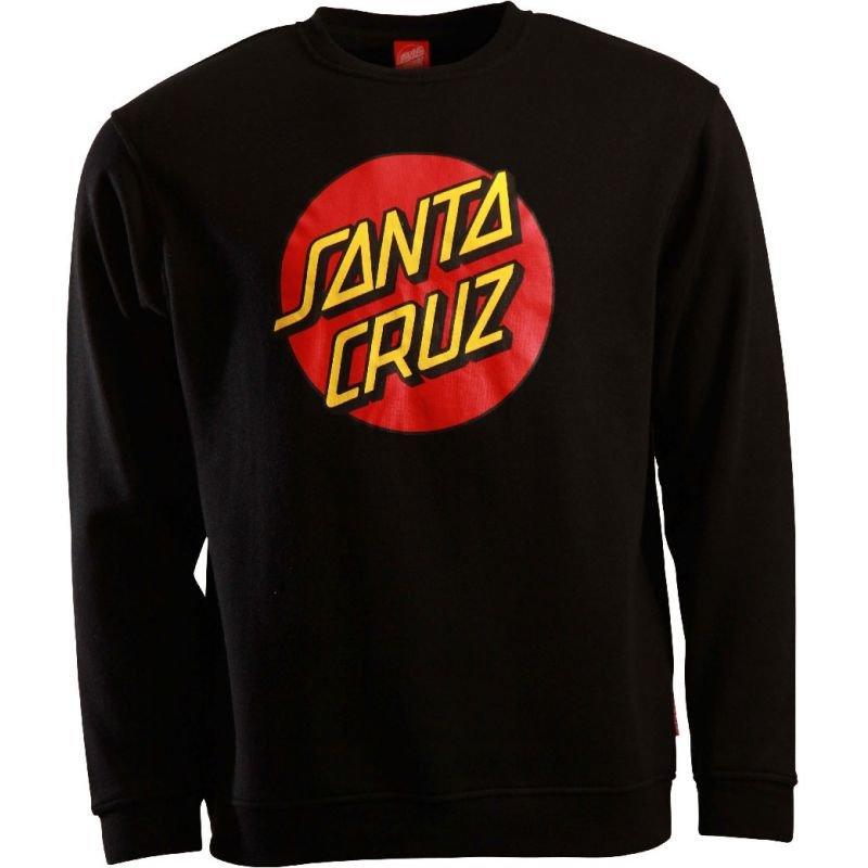 Černá pánská mikina bez kapuce Santa Cruz - velikost L