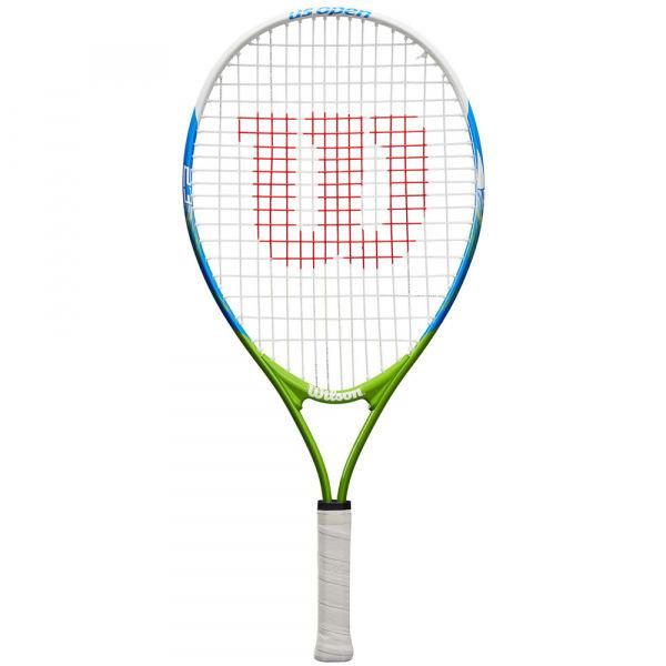 Bílo-zelená dětská tenisová raketa Wilson