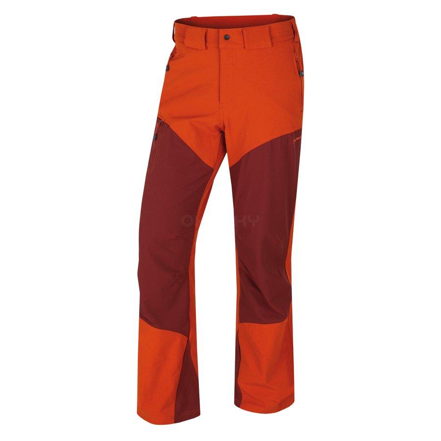 Hnědé pánské turistické kalhoty Husky - velikost XXL