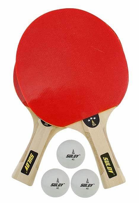 Sada na stolní tenis - Set na pingpong SULOV 3ST-01, 2 x raketa, 3 x míč