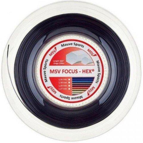 Tenisový výplet - MSV Focus HEX 200m 1,18 černá