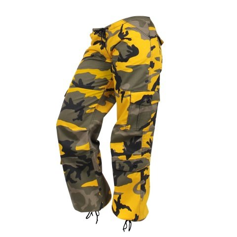 Kalhoty - Kalhoty dámské PARATROOPER YELLOW CAMO