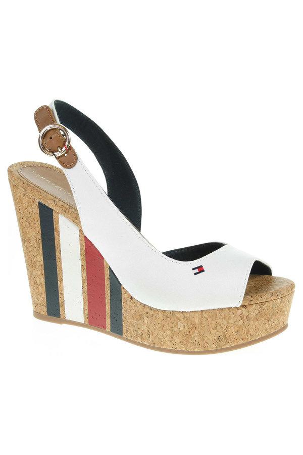 Bílé sandály Tommy Hilfiger