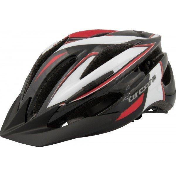 Bílo-černá cyklistická helma Arcore - velikost 50-54 cm