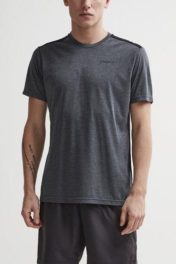 Šedé pánské tričko s krátkým rukávem Craft