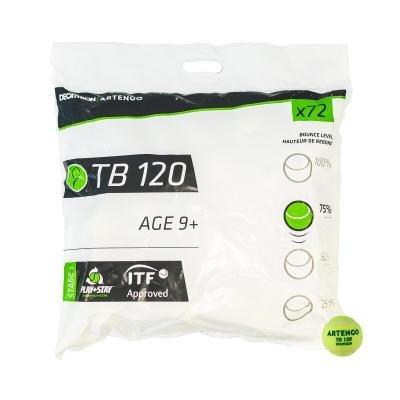 Zelený tenisový míček TB 120, Artengo - 72 ks